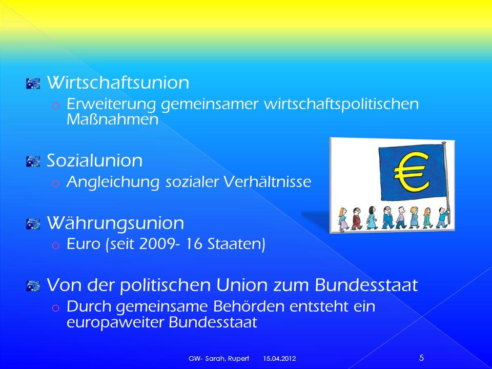 Von der politischen Union zum Bundesstaat