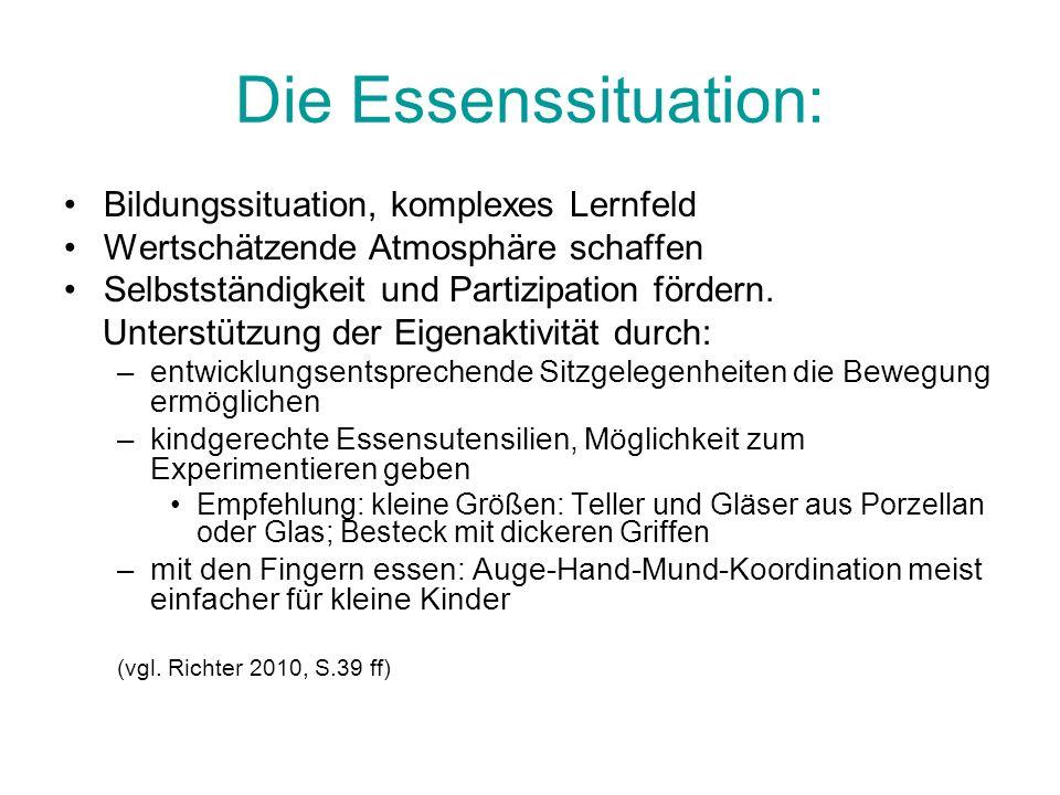 Die Essenssituation: Bildungssituation, komplexes Lernfeld