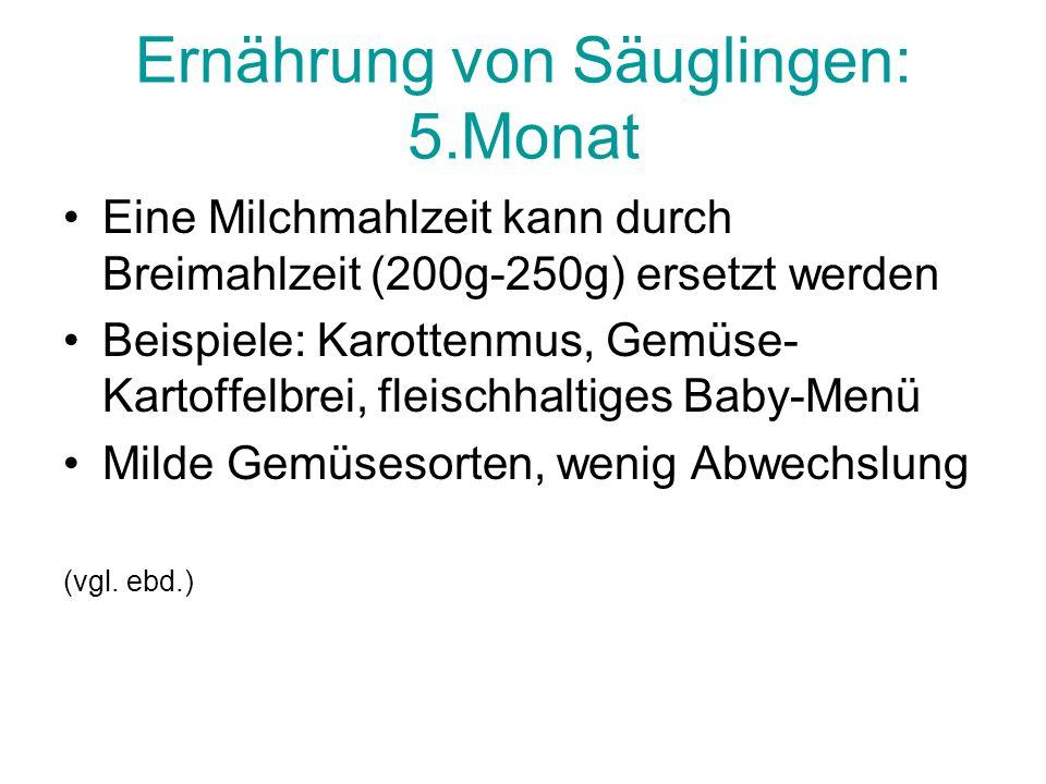 Ernährung von Säuglingen: 5.Monat