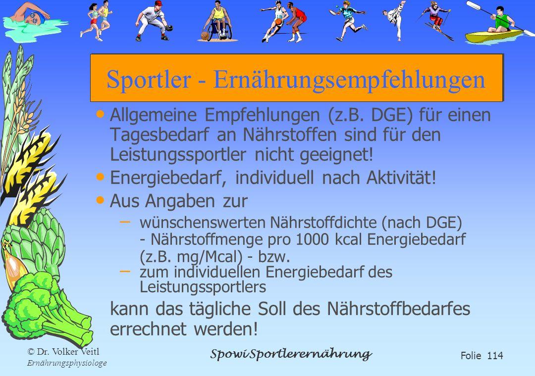 Sportler - Ernährungsempfehlungen
