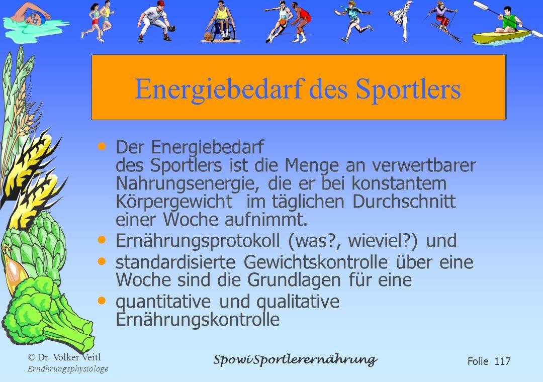 Energiebedarf des Sportlers