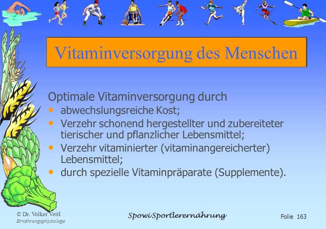 Vitaminversorgung des Menschen