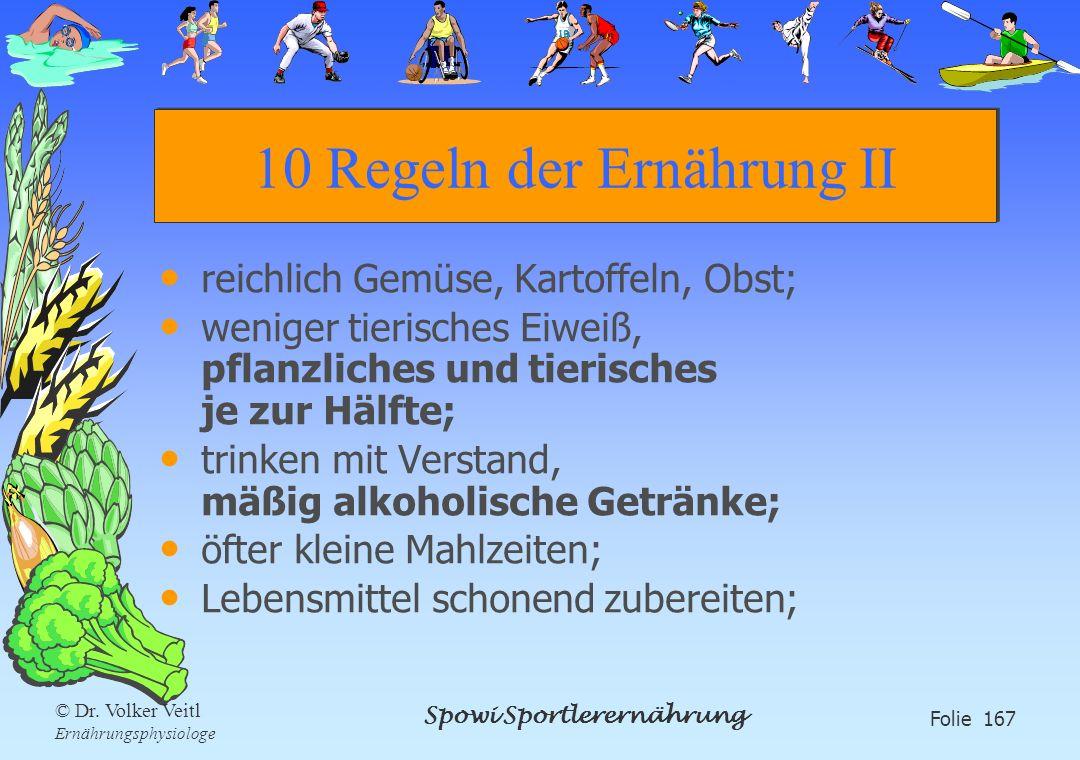 10 Regeln der Ernährung II