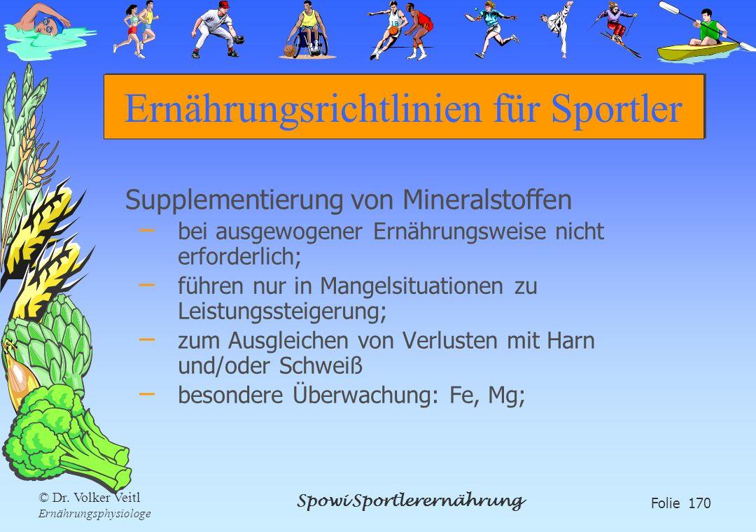 Ernährungsrichtlinien für Sportler
