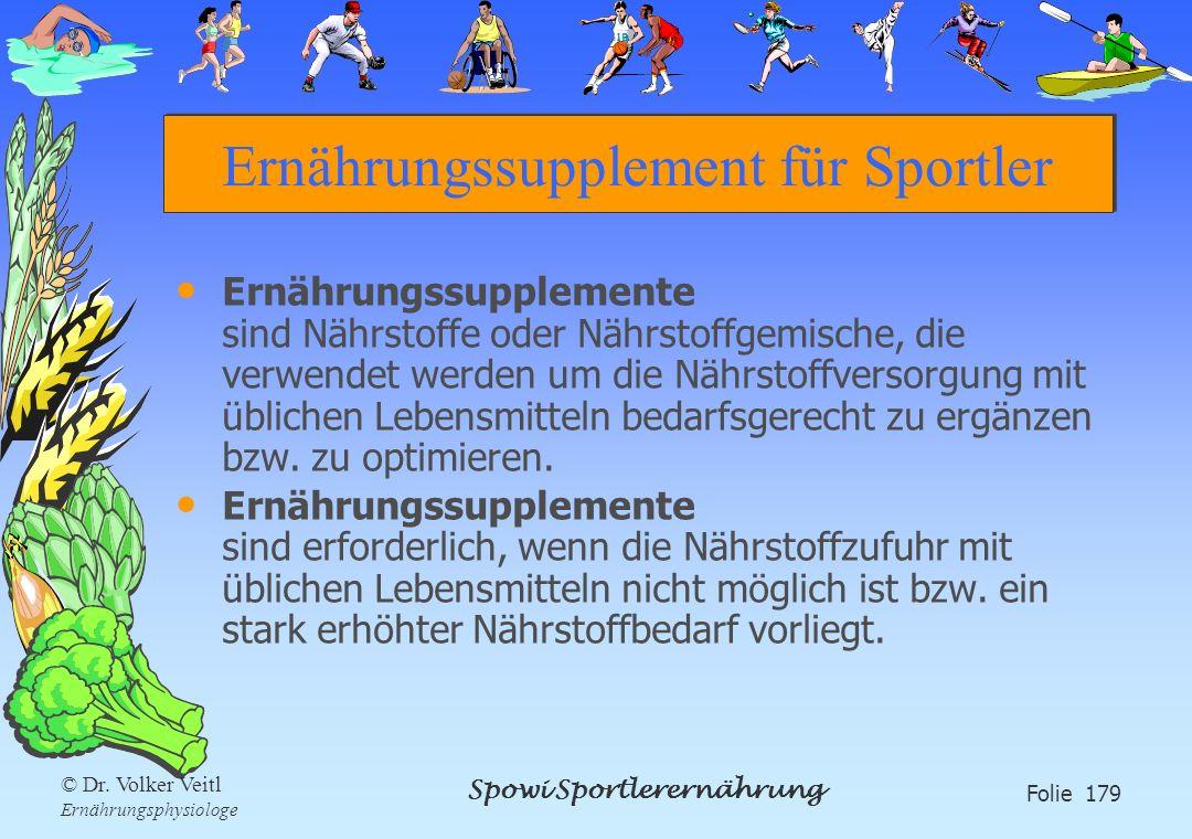 Ernährungssupplement für Sportler
