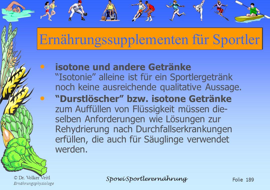 Ernährungssupplementen für Sportler