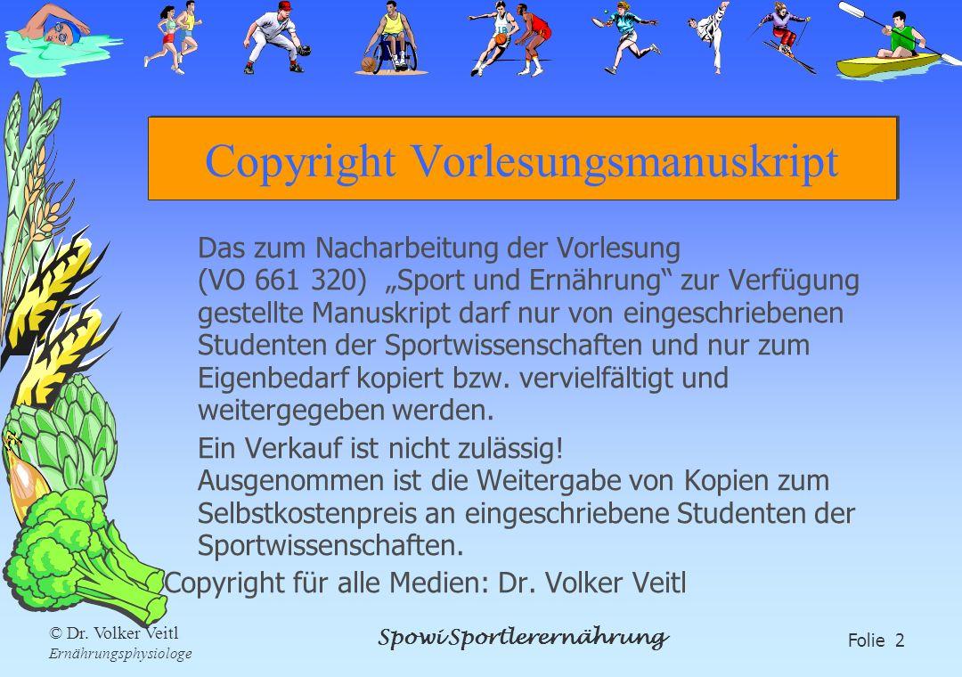 Copyright Vorlesungsmanuskript