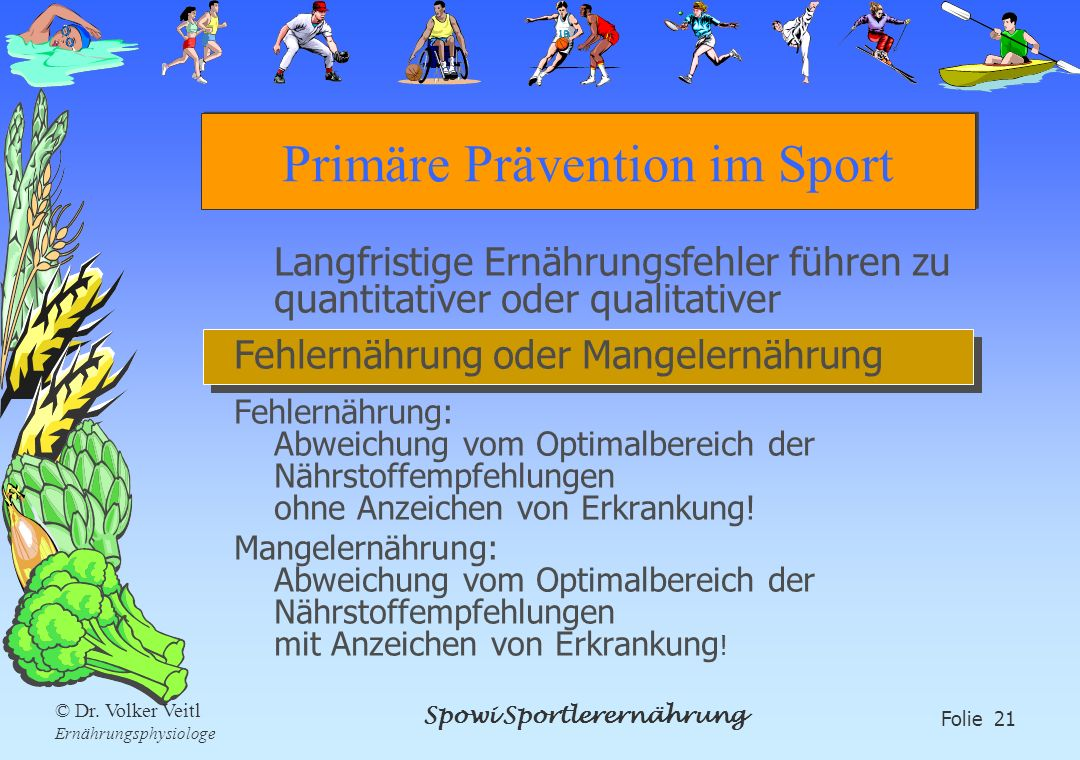 Primäre Prävention im Sport