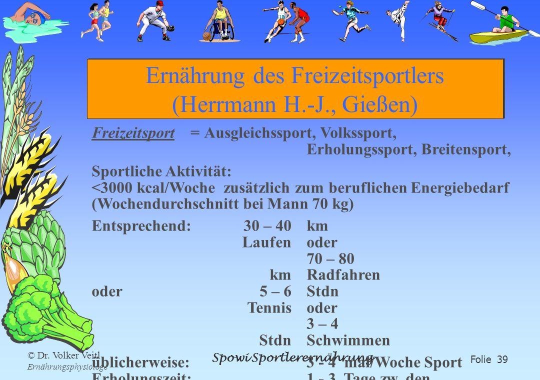 Ernährung des Freizeitsportlers (Herrmann H.-J., Gießen)