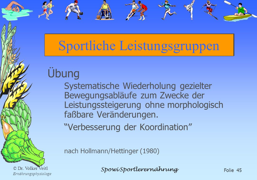 Sportliche Leistungsgruppen
