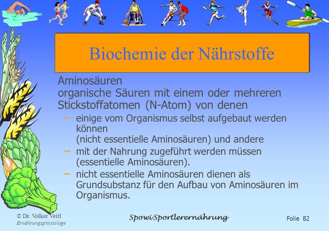 Biochemie der Nährstoffe