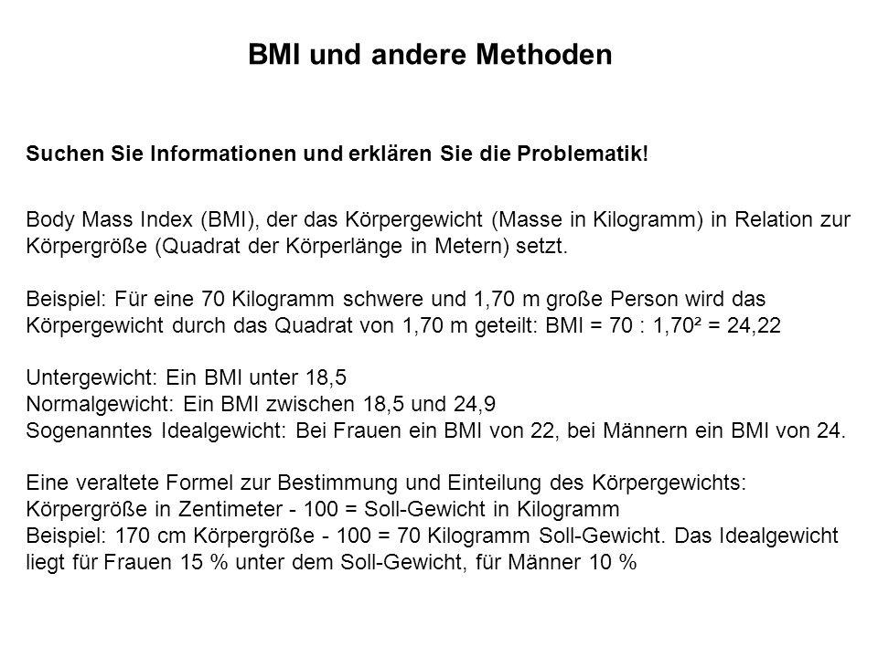 BMI und andere Methoden