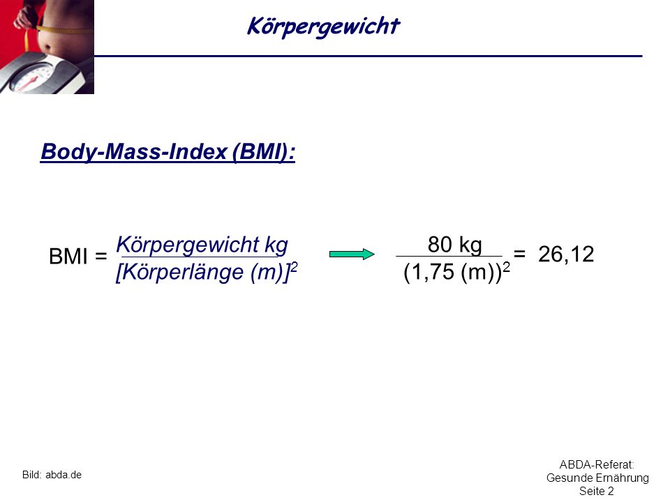 Body-Mass-Index (BMI):