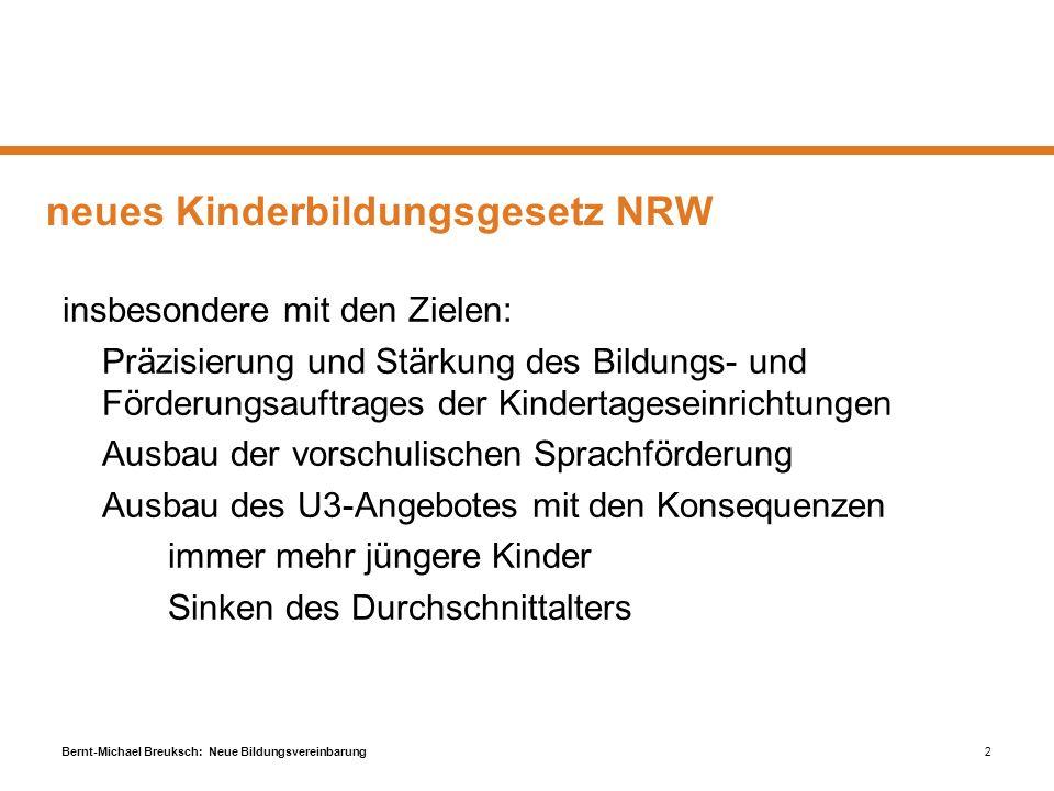 neues Kinderbildungsgesetz NRW