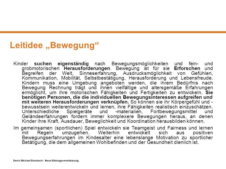 """Leitidee """"Bewegung"""