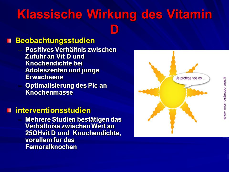 Klassische Wirkung des Vitamin D