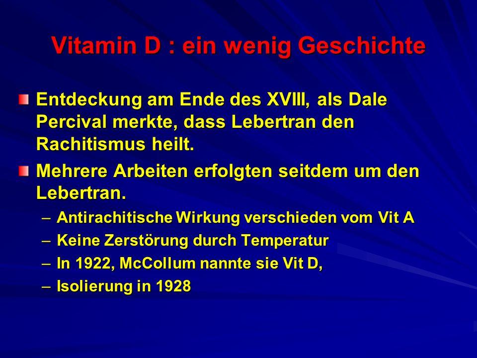 Vitamin D : ein wenig Geschichte