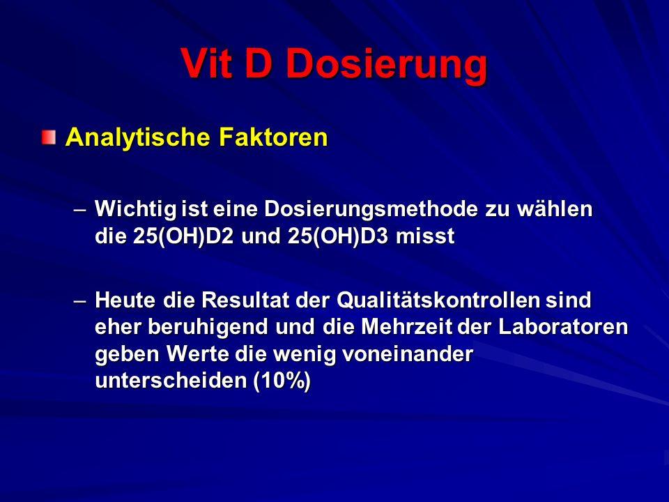 Vit D Dosierung Analytische Faktoren