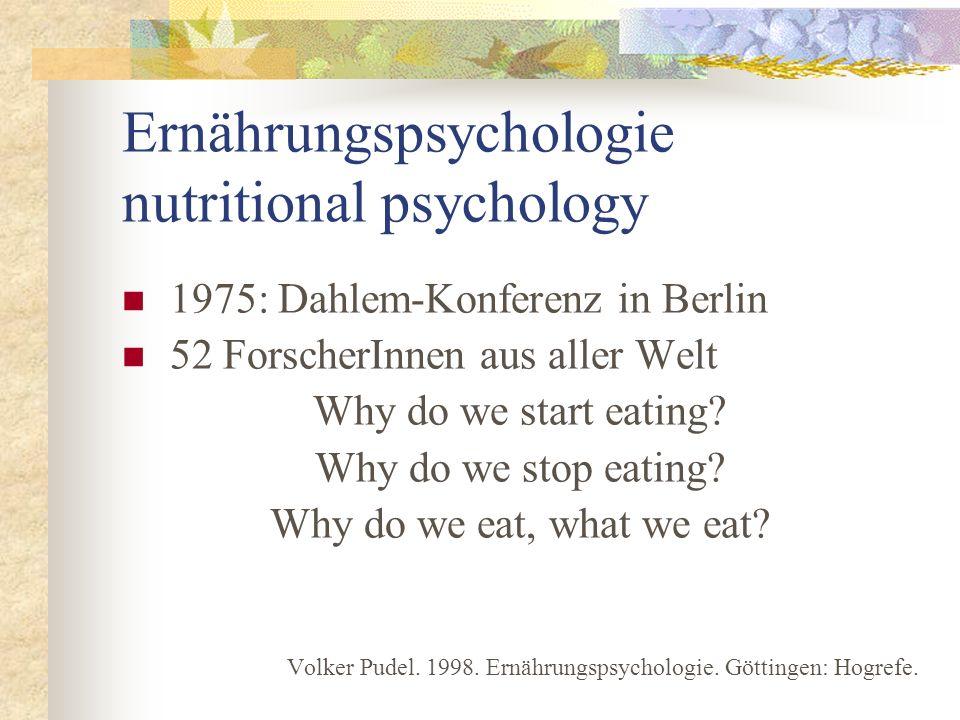 Ernährungspsychologie nutritional psychology