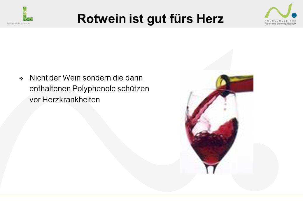 Rotwein ist gut fürs Herz