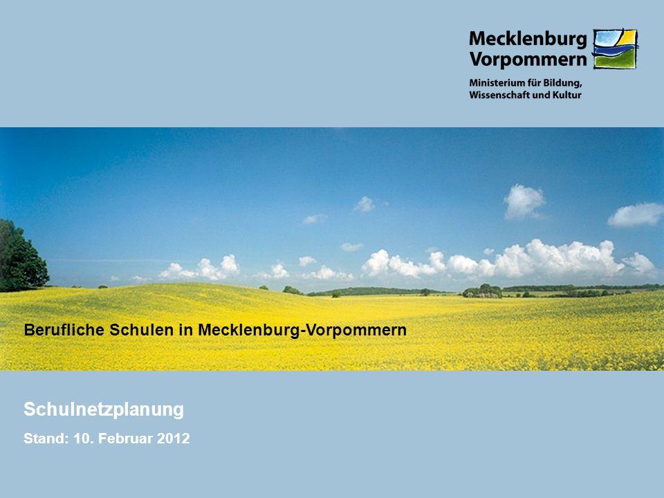 Schulnetzplanung Stand: 10. Februar 2012
