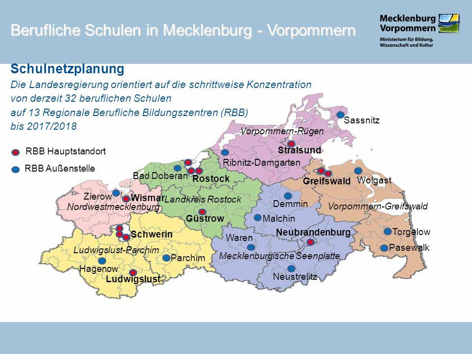 Berufliche Schulen in Mecklenburg - Vorpommern