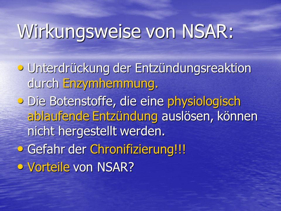 Wirkungsweise von NSAR: