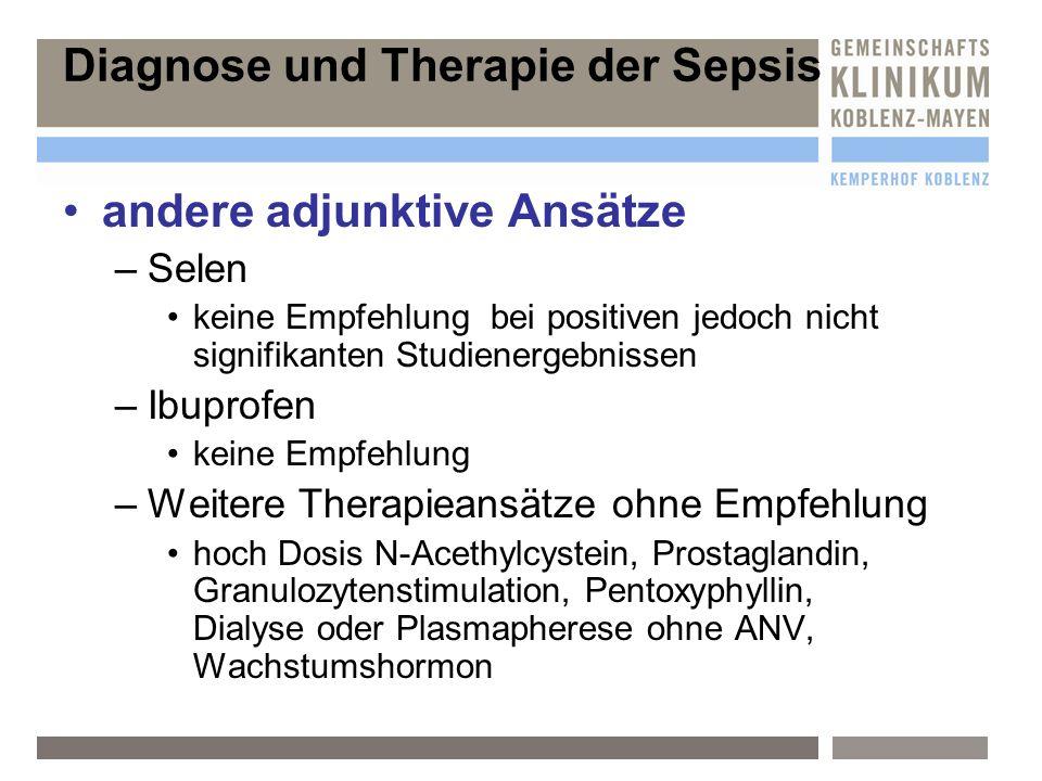 Diagnose und Therapie der Sepsis