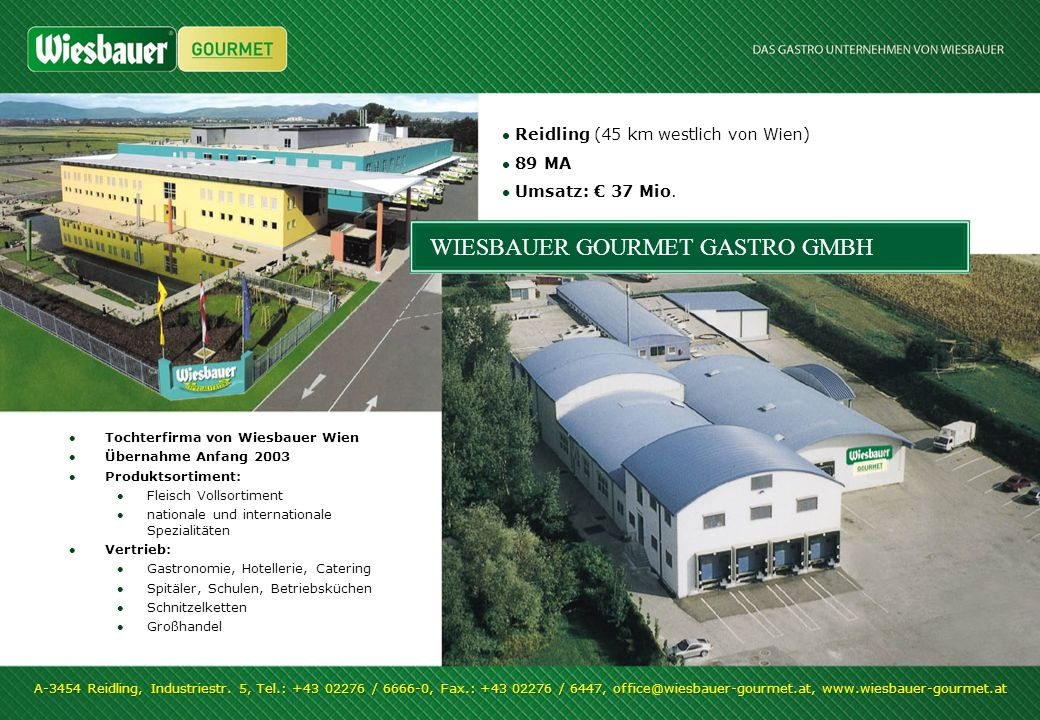 WIESBAUER GOURMET GASTRO GMBH