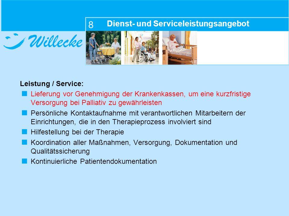 Dienst- und Serviceleistungsangebot