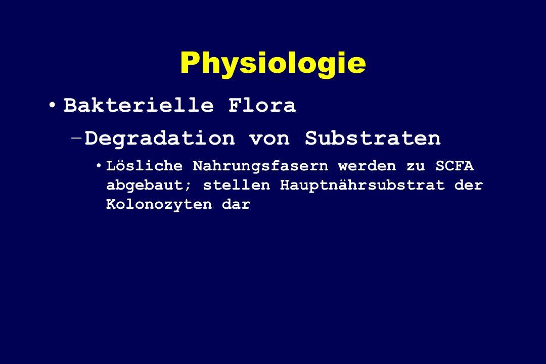 Physiologie Bakterielle Flora Degradation von Substraten