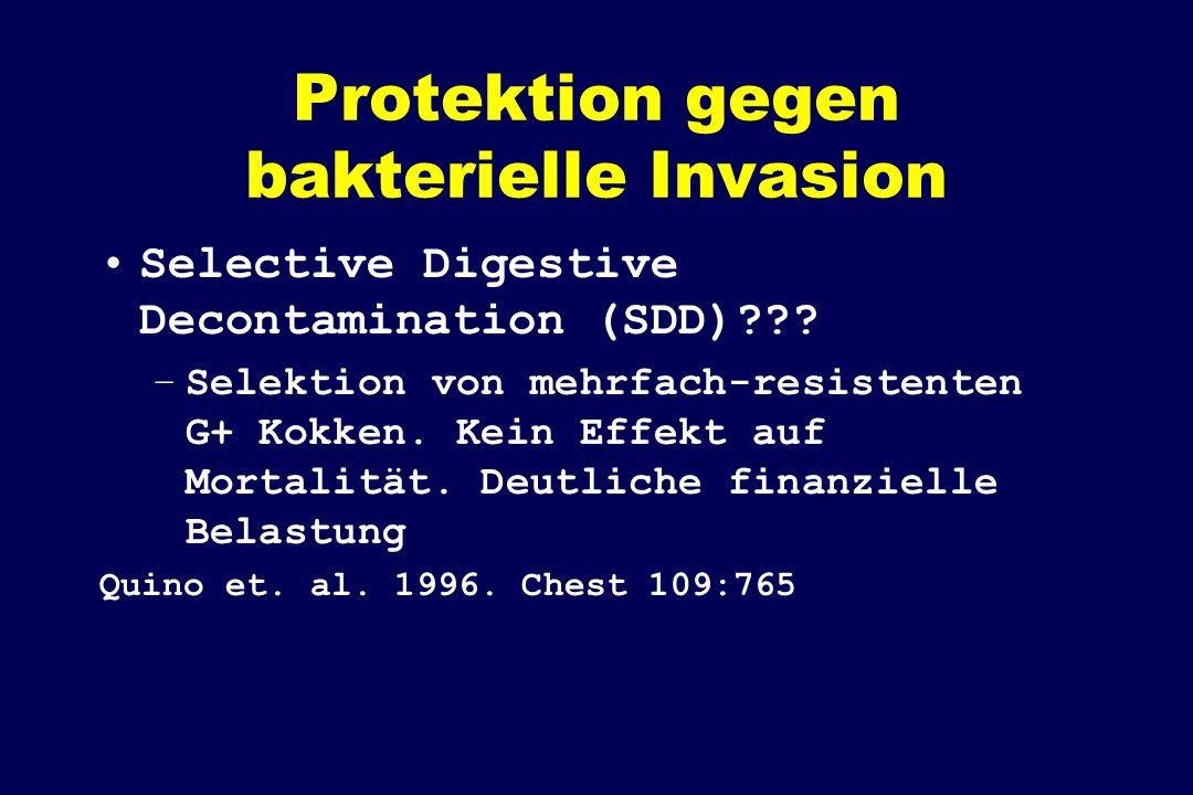Protektion gegen bakterielle Invasion