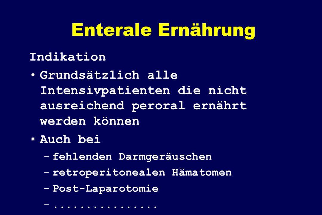 Enterale Ernährung Indikation