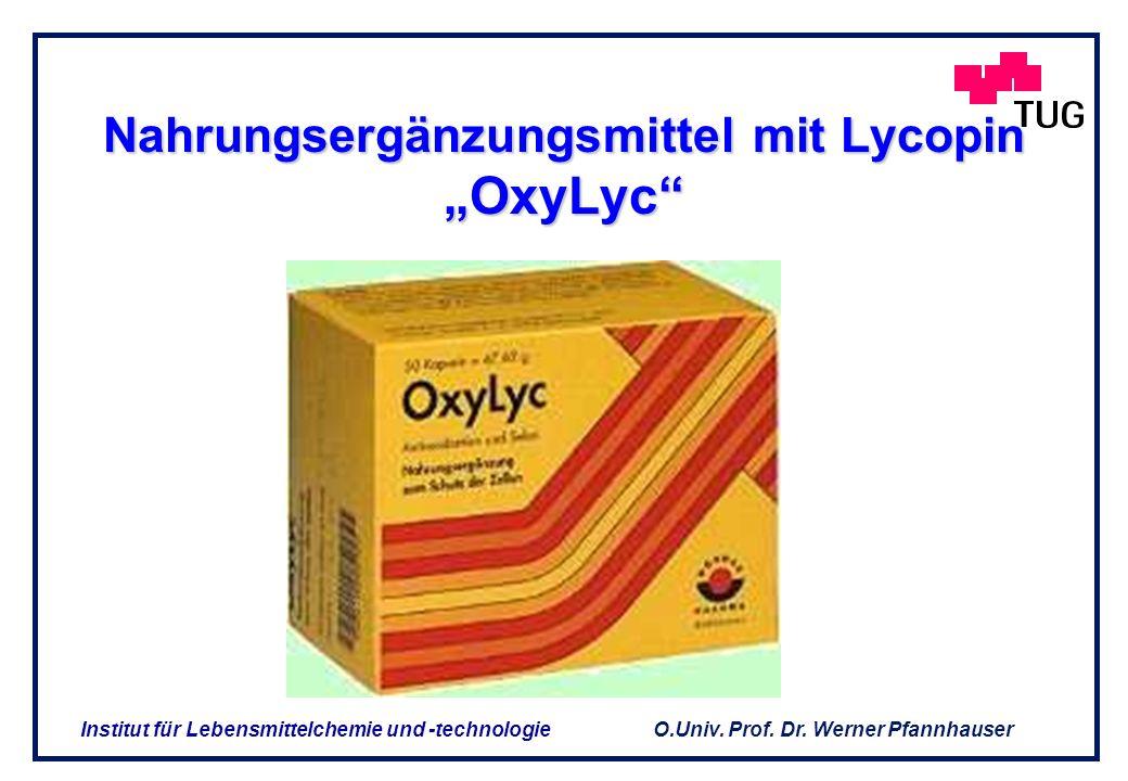 "Nahrungsergänzungsmittel mit Lycopin ""OxyLyc"