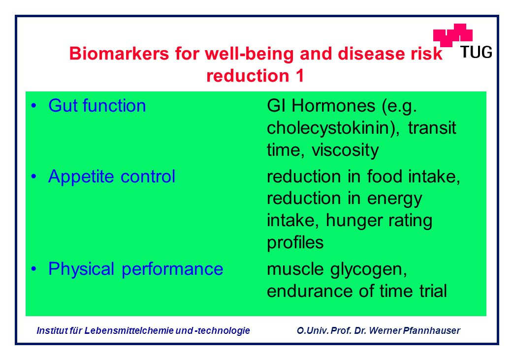 Biomarkers for well-being and disease risk reduction 1