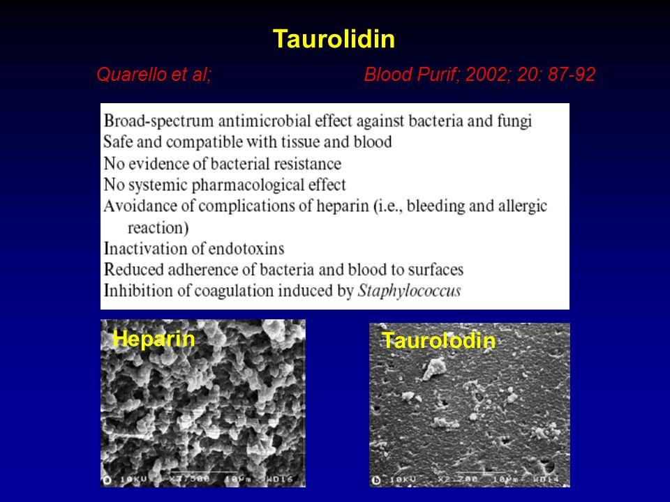 Taurolidin Heparin Taurolodin