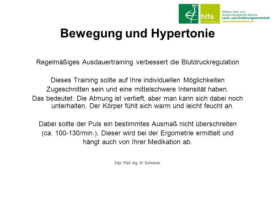 Bewegung und Hypertonie