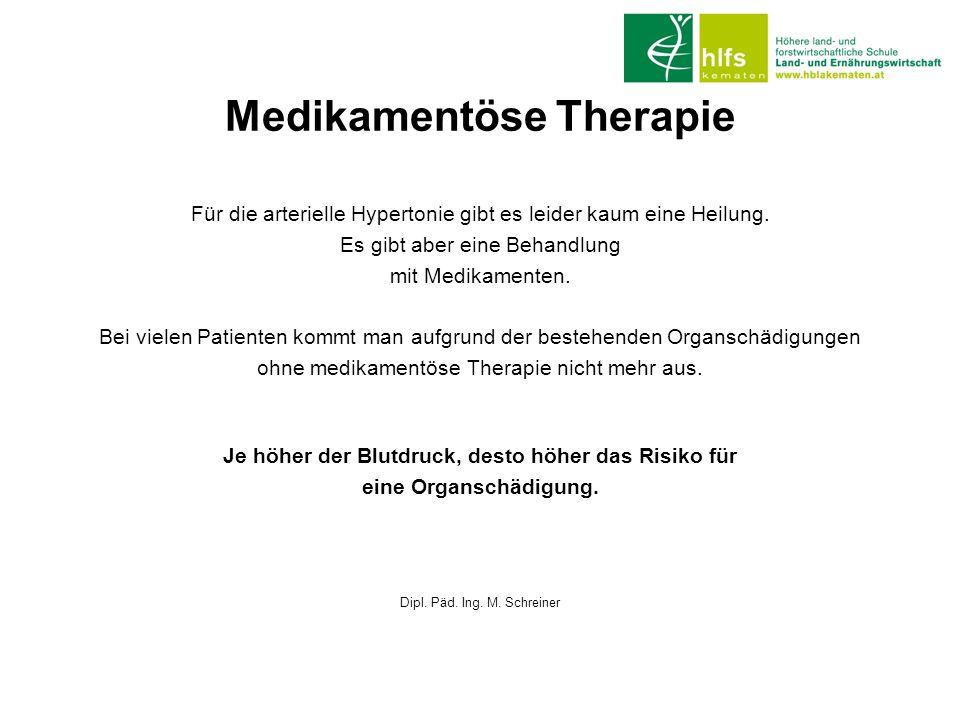 Medikamentöse Therapie