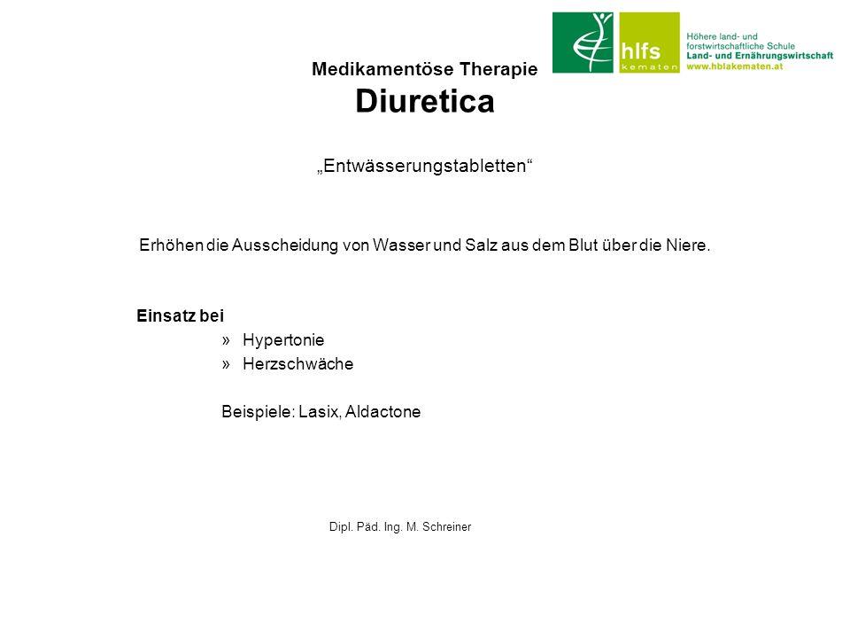 Medikamentöse Therapie Diuretica
