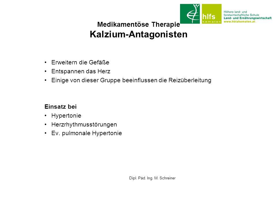 Medikamentöse Therapie Kalzium-Antagonisten