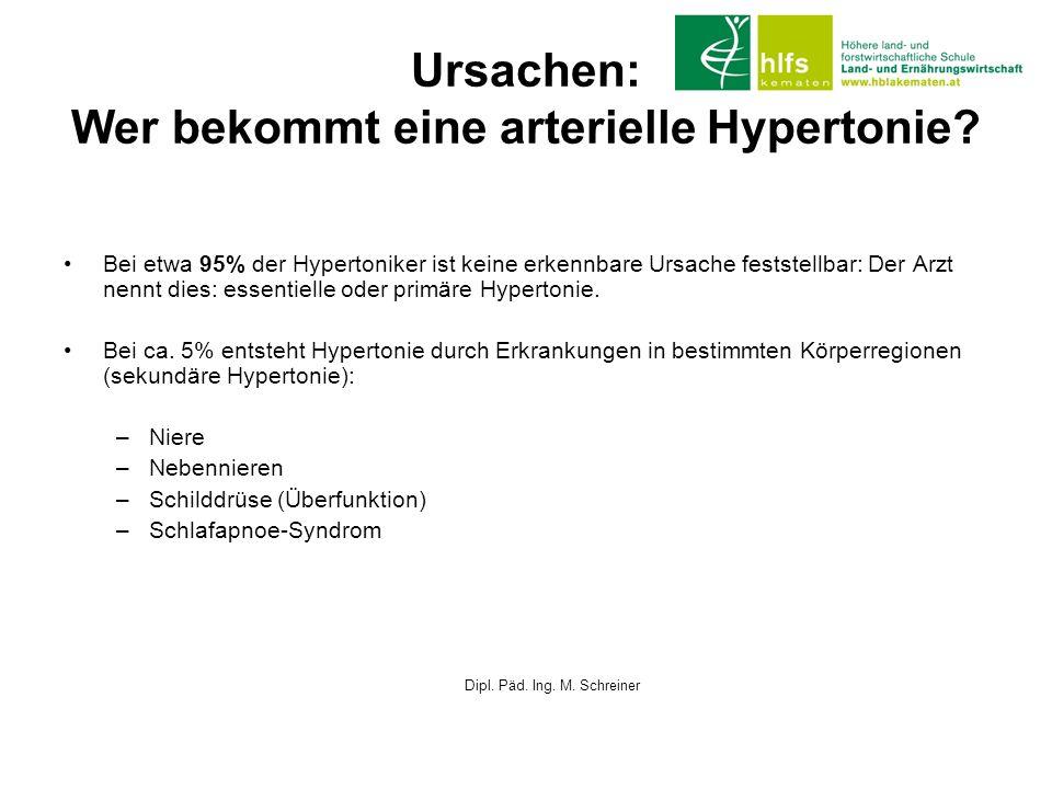 Ursachen: Wer bekommt eine arterielle Hypertonie