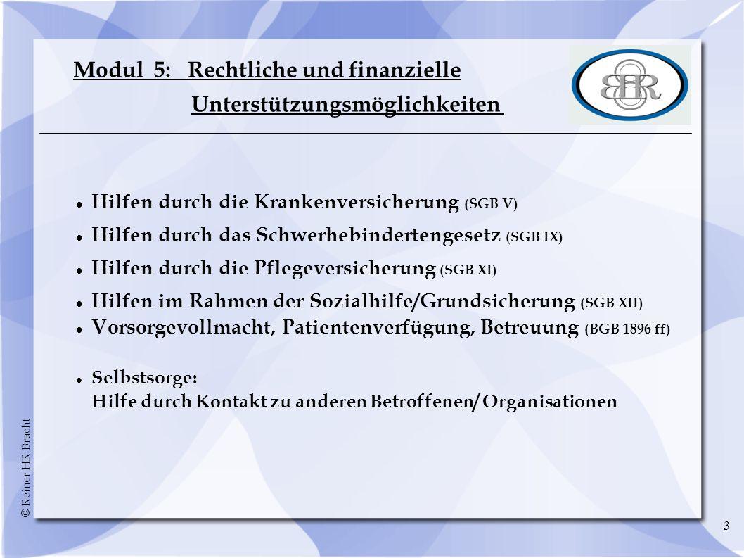 Modul 5: Rechtliche und finanzielle Unterstützungsmöglichkeiten