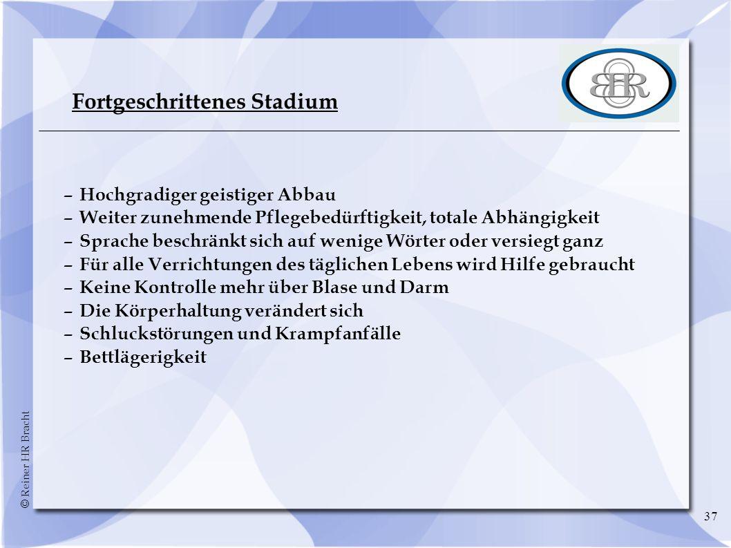 Fortgeschrittenes Stadium