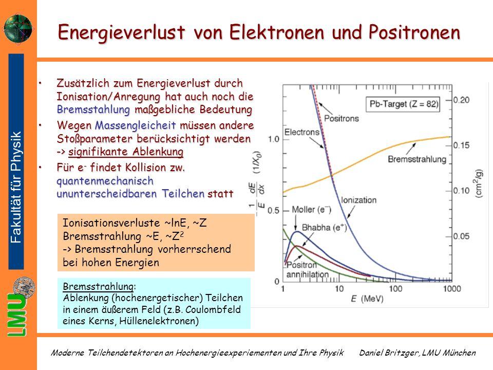 Energieverlust von Elektronen und Positronen