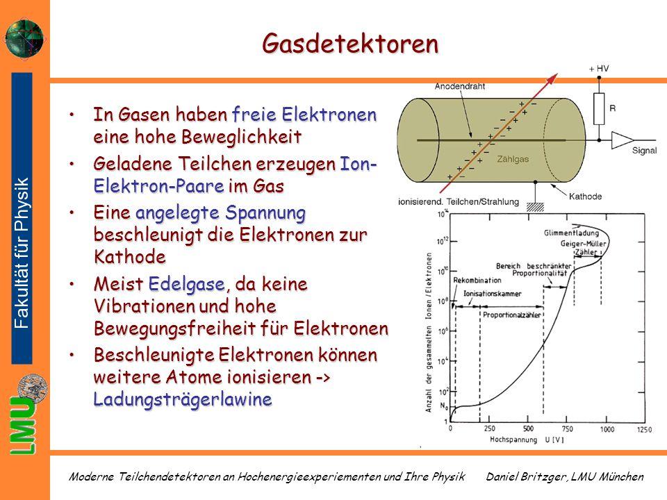 Gasdetektoren In Gasen haben freie Elektronen eine hohe Beweglichkeit