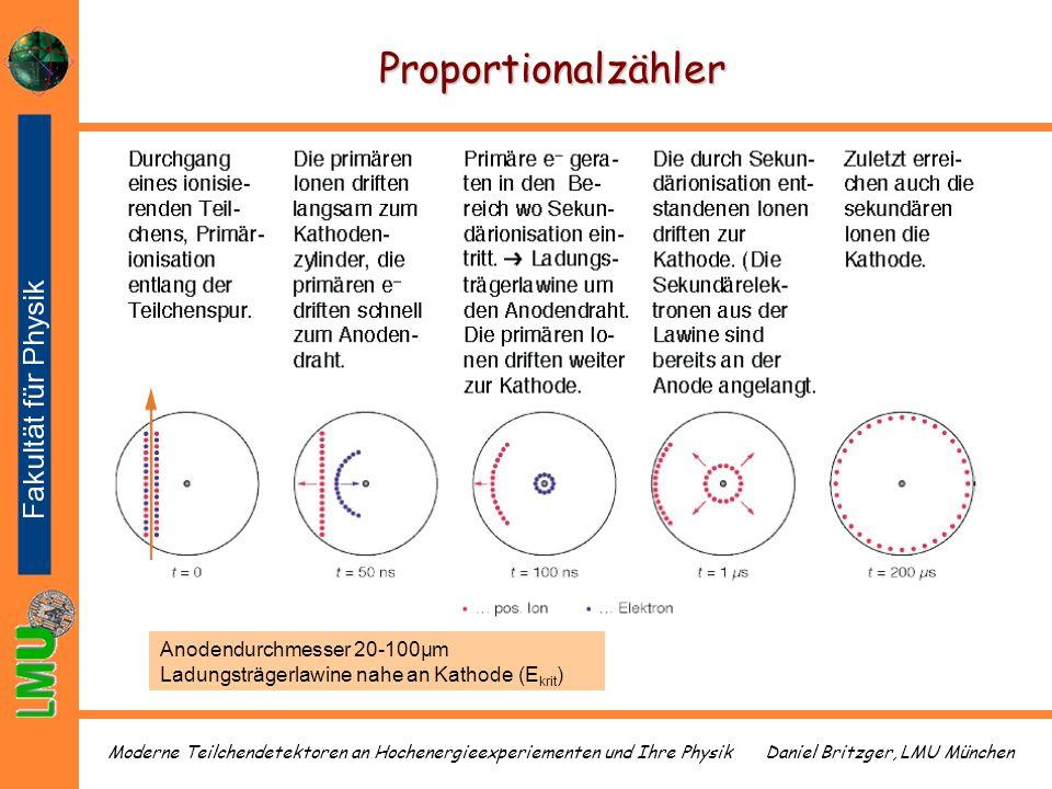 Proportionalzähler Anodendurchmesser 20-100µm