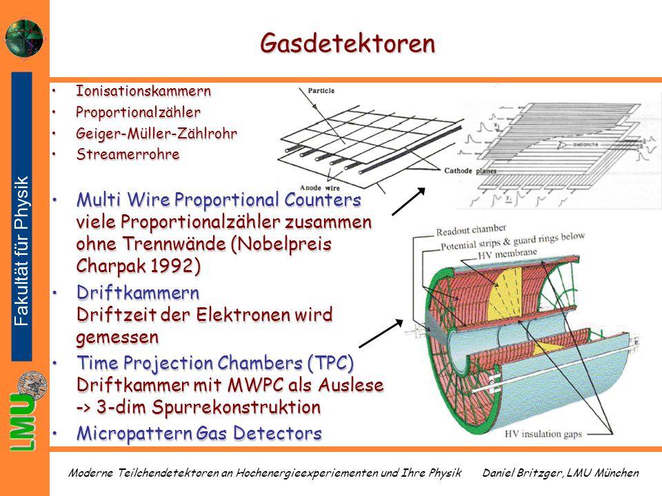 Gasdetektoren Ionisationskammern. Proportionalzähler. Geiger-Müller-Zählrohr. Streamerrohre.