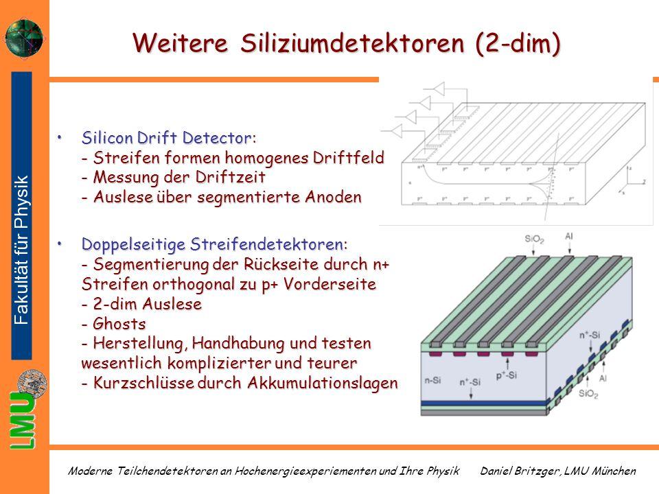 Weitere Siliziumdetektoren (2-dim)