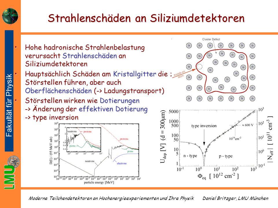 Strahlenschäden an Siliziumdetektoren