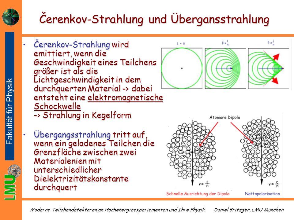 Čerenkov-Strahlung und Übergansstrahlung